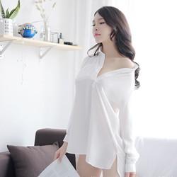 Đầm ngủ sơ mi gợi cảm cao cấp | Thời trang váy ngủ quyến rũ