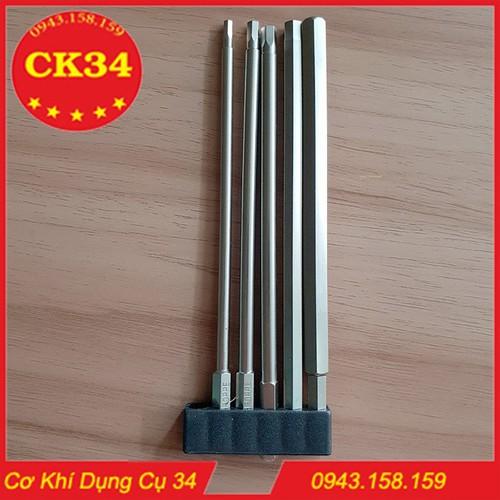 Bộ 5 đầu lục giác dài 150mm dành cho khoan, máy bắn vít - 5206534 , 11503684 , 15_11503684 , 150000 , Bo-5-dau-luc-giac-dai-150mm-danh-cho-khoan-may-ban-vit-15_11503684 , sendo.vn , Bộ 5 đầu lục giác dài 150mm dành cho khoan, máy bắn vít