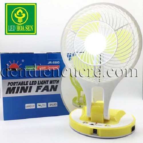 Quạt sạc tích điện Mini Fan JR 5580.