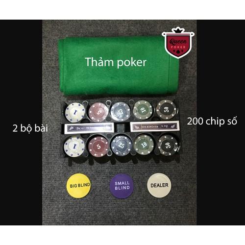 Bộ 200 phỉnh poker Có Số giá rẻ  Full ảnh thật