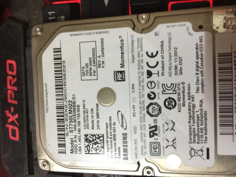 Ổ Cứng Laptop HDD Samsung 750G Cũ 5400RPM BH 6 Tháng Ko Badsector 2