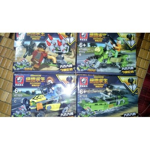 set 4 hộp lắp ráp Nonlego Battleground 47105