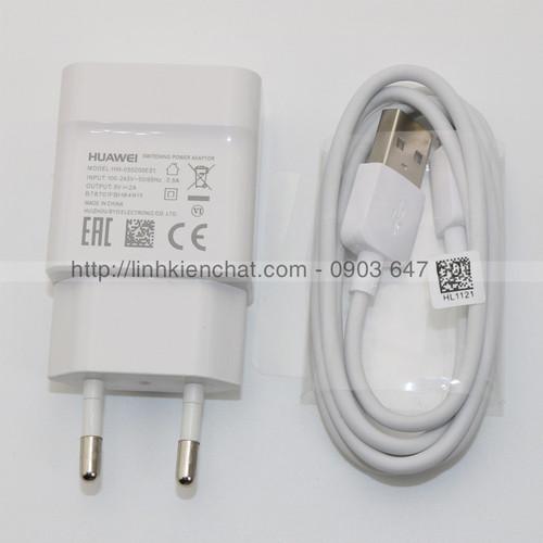 Bộ cốc sạc Huawei Y6 ii CAM-L21 và dây sạc Huawei microUSB Zin máy