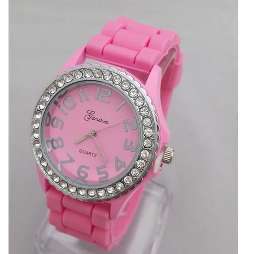Đồng hồ nữ dây silicon thời trang Geneva BS203