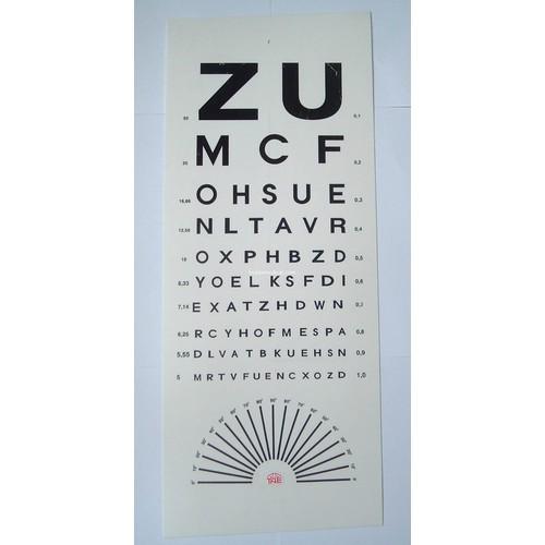 Bảng đèn thử thị lực, kiểm tra tật khúc xạ chữ zu - việt nam