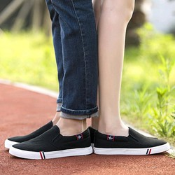 Giày lười nữ màu trắng