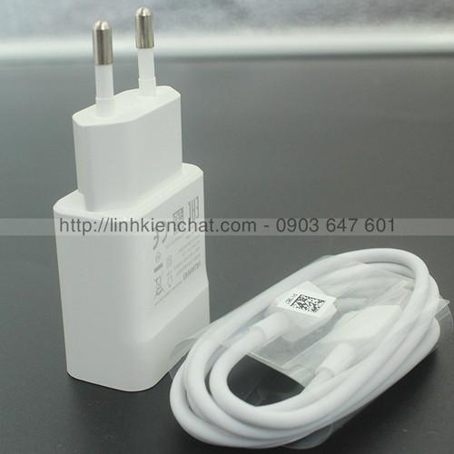 Bộ cốc sạc Huawei Y7 Prime TRT-L21A và dây sạc Huawei microUSB Zin máy