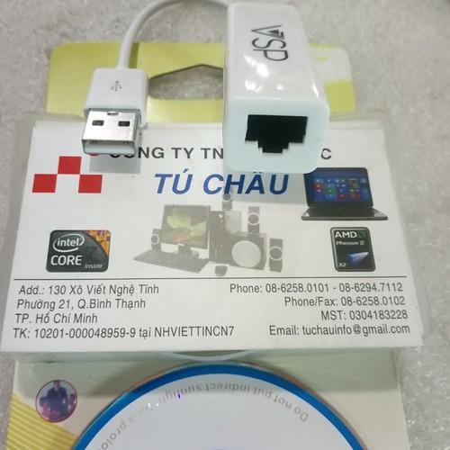 Dây USB 2.0 ra Lan 10-100Mbps, đoạn dây,No: 9700