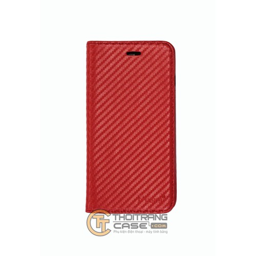 Bao da Iphone 7 Plus vân cacbon hiệu PUDINI
