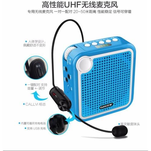 Máy trợ giảng không dây Audio V-319 UHF  Hai mic