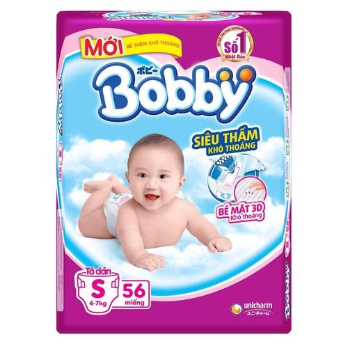 Tã bỉm dán Bobby S56 cho bé 4 - 7kg