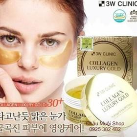 SALE LỖ MẶT NẠ VÀNG DƯỠNG MẮT-CẤP COLLAGEN HÀN QUỐC-DATE 27-11-2020 - mặt nạ collagen 3W Clinic