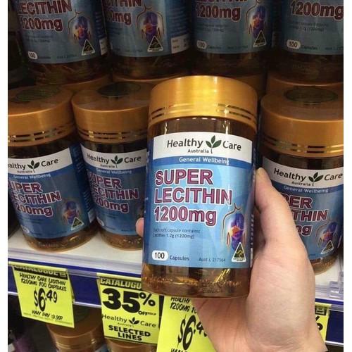 Mầm đậu nành Úc Super Lecithin Healthy care 100 viên