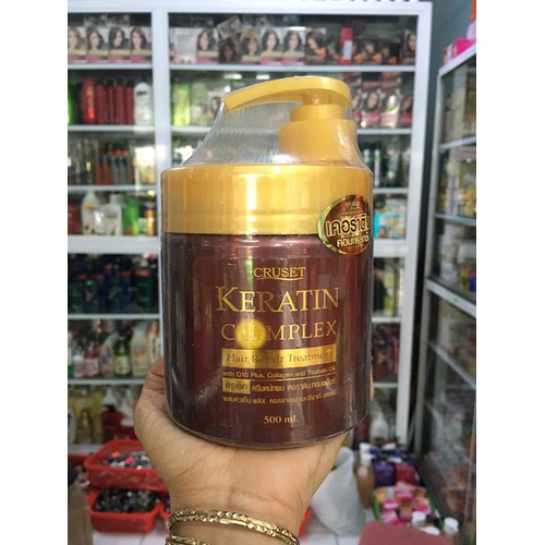 Ủ Tóc Cruset Keratin Complex Hair Repair Treatment Thái Lan 500ml