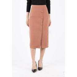 De Leah - Chân Váy Midi Cúc Bọc - Thời trang thiết kế
