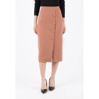 De Leah - Chân Váy Midi Cúc Bọc - Thời trang thiết kế - Z1722123Be thumbnail
