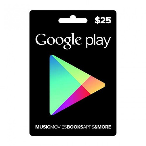 thẻ nạp game gift cards code chplay google store chính hãng 25$ hệ us