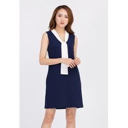 De Leah - Đầm Suông Cổ Dây Nơ - Thời trang thiết kế