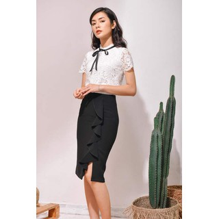 De Leah - Chân Váy Ôm Bèo Cuốn - Thời trang thiết kế - Z1816041D thumbnail