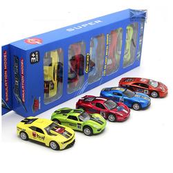 Bộ 5 xe ô tô Die cast bằng sắt chạy cót tỉ lệ 1:48 đồ chơi trẻ em