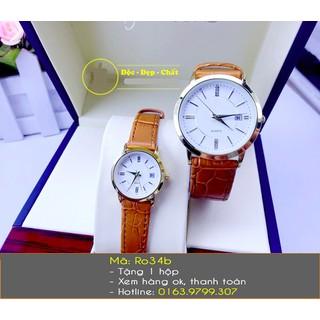 Đồng hồ đôi dây da mềm thời trang - 452 thumbnail
