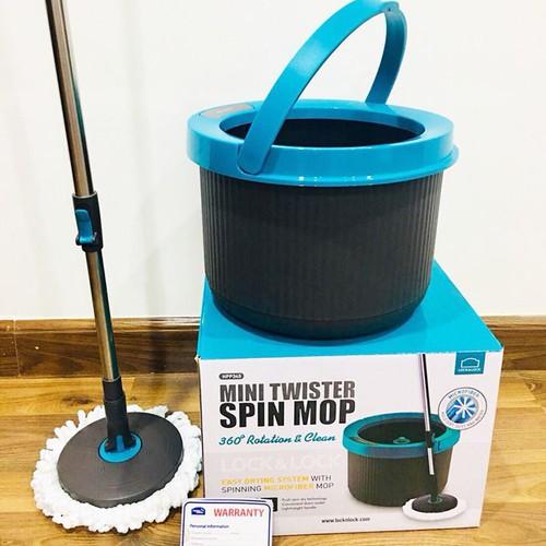 Cây Lau Nhà LockLock Mini Twister Spin Mop Xoay 360 Độ HPP345