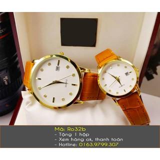Đồng hồ đôi dây da thời trang có lịch - 450 thumbnail