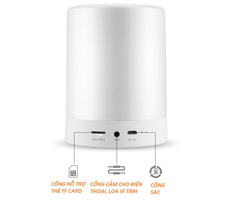 Loa Bluetooth Cao cấp hiển thị giờ kiêm đèn ngủ PKCB-66+ 9