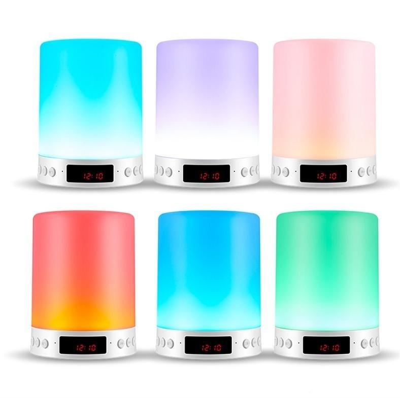Loa Bluetooth Cao cấp hiển thị giờ kiêm đèn ngủ PKCB-66+ 4
