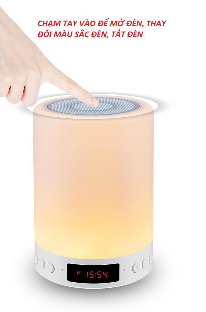 Loa Bluetooth Cao cấp hiển thị giờ kiêm đèn ngủ PKCB-66+ 8