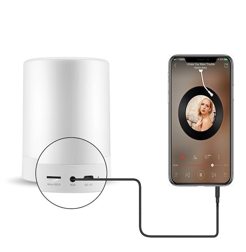 Loa Bluetooth Cao cấp hiển thị giờ kiêm đèn ngủ PKCB-66+ 5