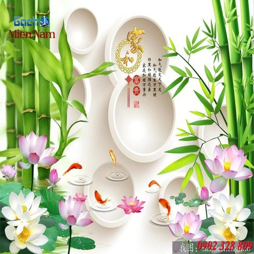 Gạch tranh 3d mẫu hoa sen HS54 - 5252195 , 11586062 , 15_11586062 , 1195000 , Gach-tranh-3d-mau-hoa-sen-HS54-15_11586062 , sendo.vn , Gạch tranh 3d mẫu hoa sen HS54