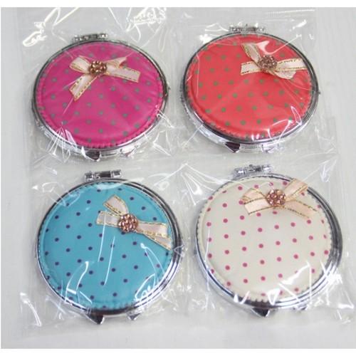 Gương mini 2 mặt bỏ túi cực xinh  - trái tim hoặc tròn