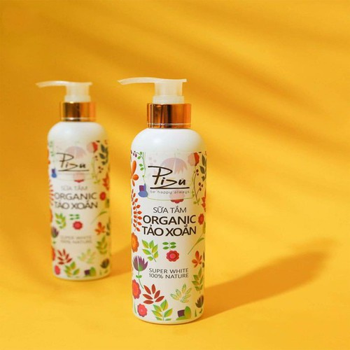 FREESHIP - Sữa tắm Organic tảo xoắn Pizu 300ml + QUÀ TẶNG