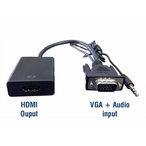 CÁP CHUYỂN ĐỔI TỪ VGA SANG HDMI CÓ AUDIO