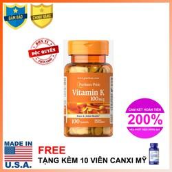Viên uống đẹp da hỗ trợ đông máu Vitamin K 100 viên - 3070VP