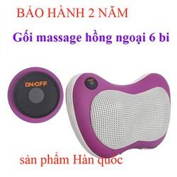 [GIAO 3H HN]Gối mát xa Hồng ngoại 6 bi Hàn quốc- massage vai, lưng, gáy,chân,tay