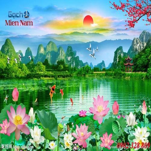 Gạch tranh 3d mẫu hoa sen HS39 - 5247475 , 11581938 , 15_11581938 , 1195000 , Gach-tranh-3d-mau-hoa-sen-HS39-15_11581938 , sendo.vn , Gạch tranh 3d mẫu hoa sen HS39