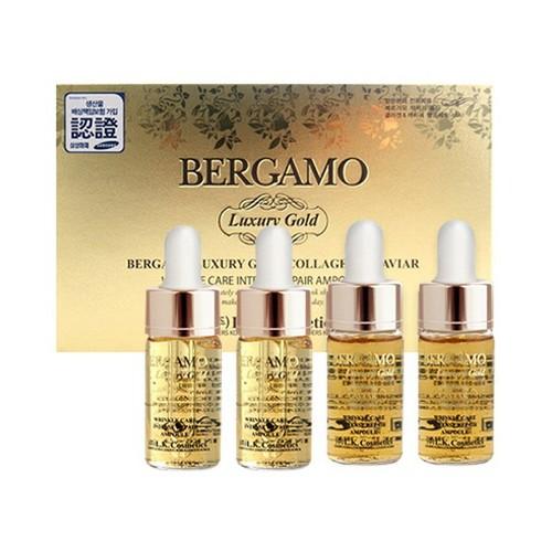 Set 4 lọ huyết thanh bergamo luxury gold collagen caviar|huyet thanh bergamo xuất xứ Hàn