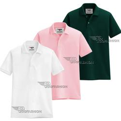 Bộ 3 Áo thun nam cổ bẻ PiGo chuẩn phong cách AB19 -3-trắng, hồng, rêu