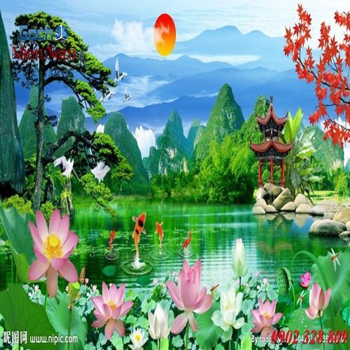 Gạch tranh 3d mẫu hoa sen HS42 - 4419960 , 11582201 , 15_11582201 , 1195000 , Gach-tranh-3d-mau-hoa-sen-HS42-15_11582201 , sendo.vn , Gạch tranh 3d mẫu hoa sen HS42