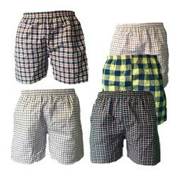 Bộ 3 quần đùi nam mặc nhà caro thể thao Pigo QDN01 - nhiều màu