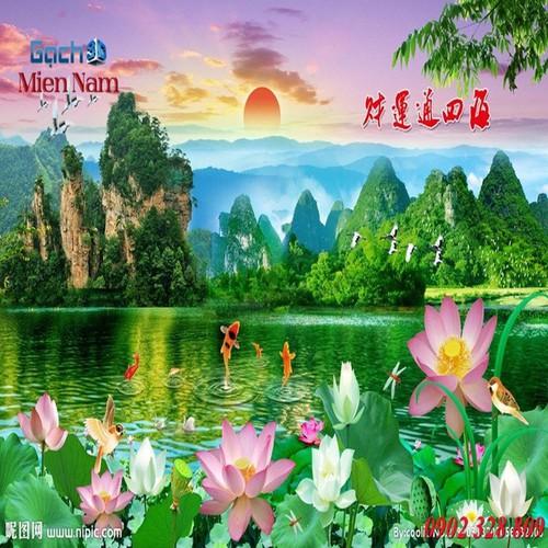 Gạch tranh 3d mẫu hoa sen HS44 - 4420018 , 11582346 , 15_11582346 , 1195000 , Gach-tranh-3d-mau-hoa-sen-HS44-15_11582346 , sendo.vn , Gạch tranh 3d mẫu hoa sen HS44