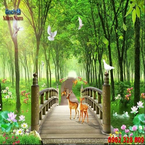 Gạch tranh 3d phong cảnh thiên nhiên TN11