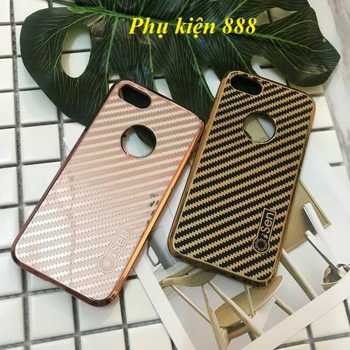 Ốp lưng dẻo bóng sọc chéo Iphone 6, Iphone 7, 7S, 7 Plus hiệu Isen