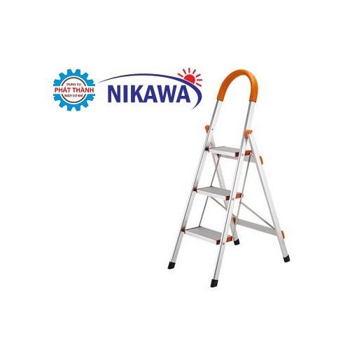 Thang ghế Nhôm 3 Bậc 0,72m Nikawa NKA-03