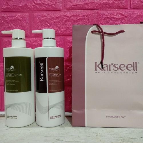 Bộ dầu gội xả Karseell maca collagen siêu phục hồi mềm mượt 800ml