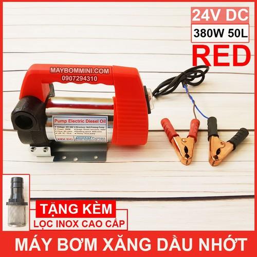 Máy Bơm Xăng Dầu Nhớt 24V 380W 50L RED SMARTPUMPS