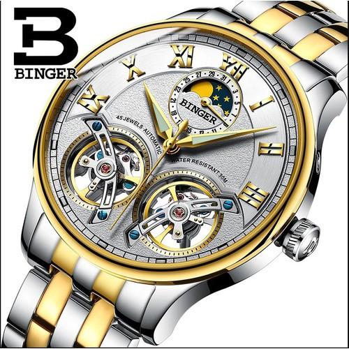 Đồng hồ nam cơ lộ máy cao cấp Binger - 5266764 , 11597181 , 15_11597181 , 6398000 , Dong-ho-nam-co-lo-may-cao-cap-Binger-15_11597181 , sendo.vn , Đồng hồ nam cơ lộ máy cao cấp Binger