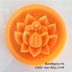 Khuôn nhấn bánh Trung thu nướng 200g - Họa tiết hoa sen
